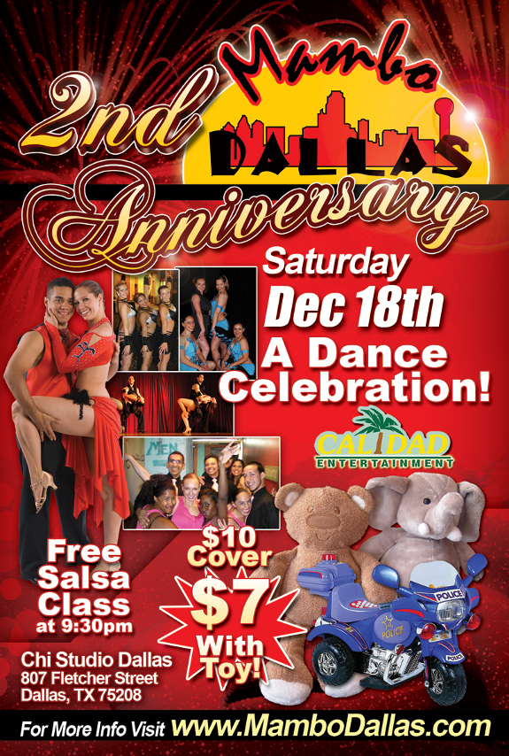 MamboDallas 2-year Anniversary!! The largest Salsa Party in DFW!!