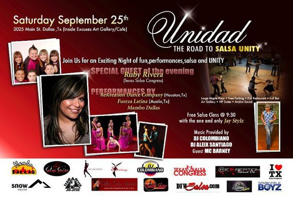 Salsa Unidad Sep 25th 10pm.