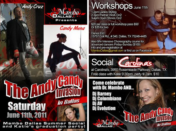 Andy Candy Invasion 2011!! Salsa Social and Workshop with world class instructors!!