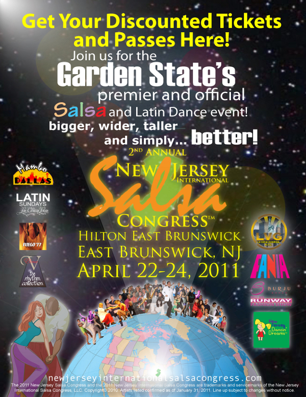 New Jersey Salsa Congress 2011!! Salsa Spring in the Garden State!!