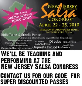 New Jersey Salsa Congress. Contact us for our code for discounted passes.