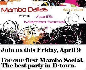 MamboDallas April 9 social. Be there!